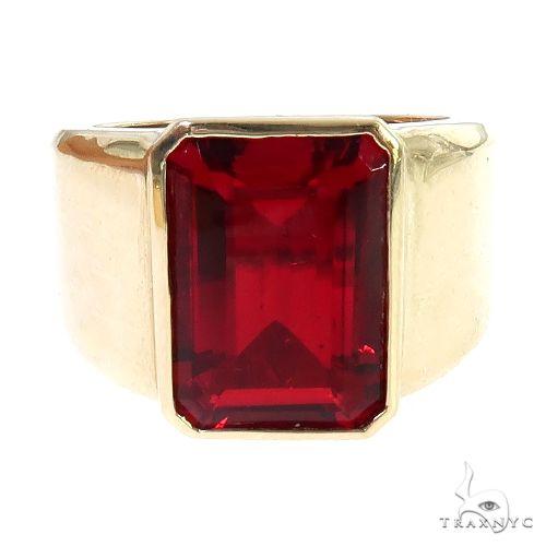 14K Gold Ruby Ring 66810 Gemstone