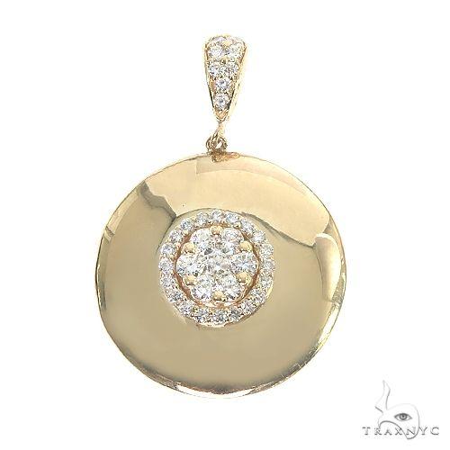 14K Gold Round Diamond Pendant 66811 Diamond