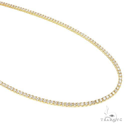 3 Pointer Parcel Diamond Tennis Chain 19.80Gr 22 Inches 2.5mm 66816 Diamond