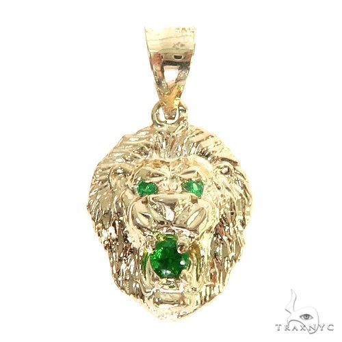 TraxNYC Emerald Lion Pendant 66829 Metal