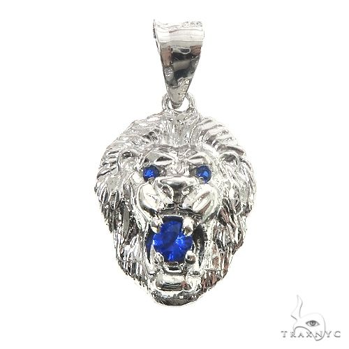 TraxNYC Blue Sapphire Lion Pendant 66831 Metal