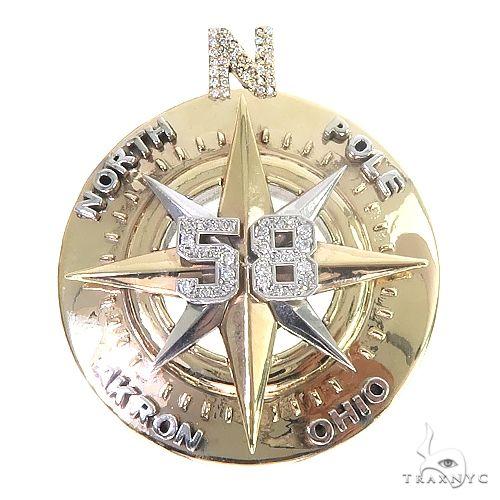 Custom Made Compass Pendant 66833 Metal