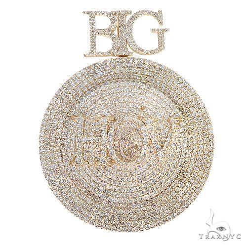 Custom Made Spinning Round Diamond Pendant 66837 Metal