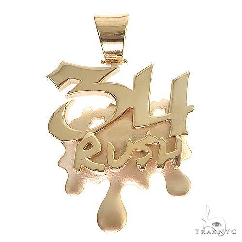 Custom Made '34 Rush' 14K Solid Gold Pendant 66838 Metal