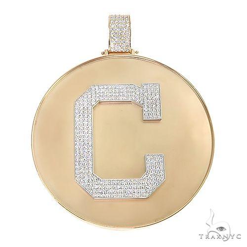 Custom Made Medallion 'C' Pendant 66841 Metal