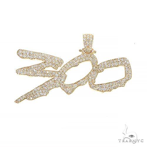Custom Made Diamond '300' Pendant 66844 Metal