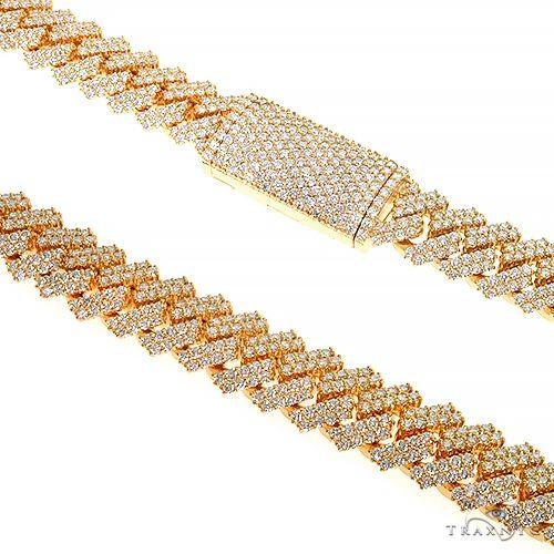 Prong Set Diamond Cuban Chain By Dan 66847 Diamond