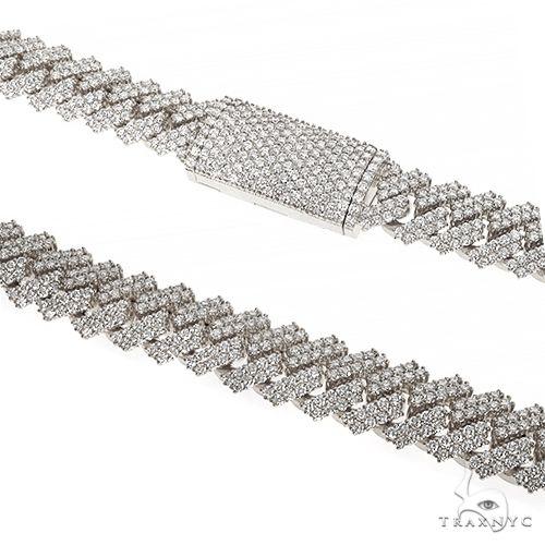 Prong Set Diamond Cuban Chain By Dan 66848 Diamond