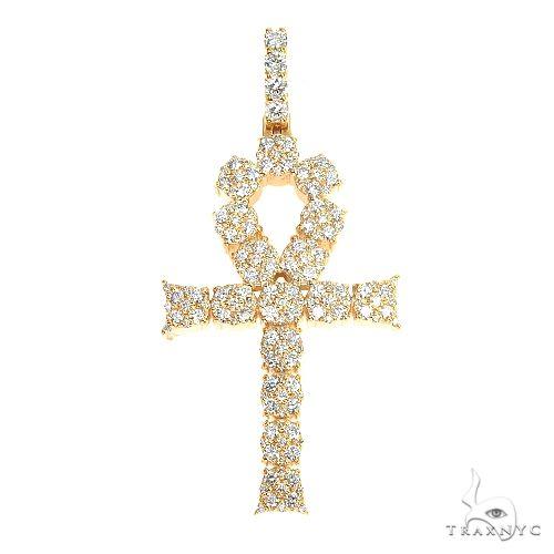 14K Gold Diamond Cross 66866 Diamond