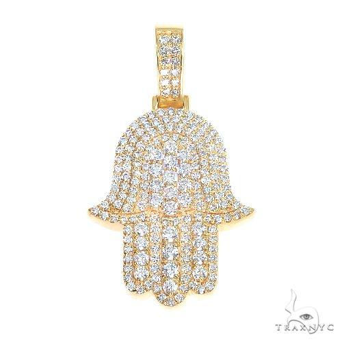 14K Gold Hamsa Diamond Pendant 66871 Metal