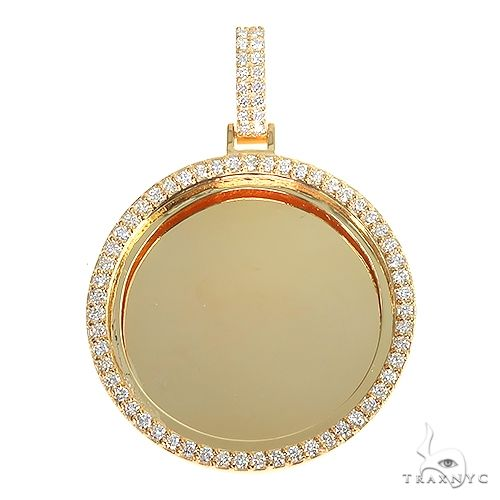 14K Gold Diamond Frame Photo Pendant 66881 Style
