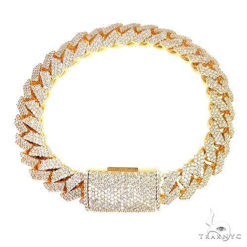 3 Row Prong Set Diamond Cuban Bracelet By Dan 66887 Diamond