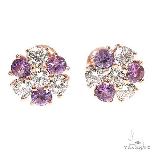 Royal VVS Flower Earrings 66904 Multicolor SAPPHIRE