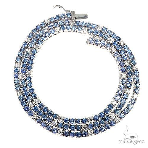 Jesse 'Ice' Sapphire Diamond Tennis Chain 66907 Gold
