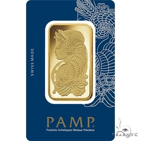 1 Oz Gold Bar PAMP Suisse Lady Fortuna (In Assay) 2000 Gold Investment Pieces