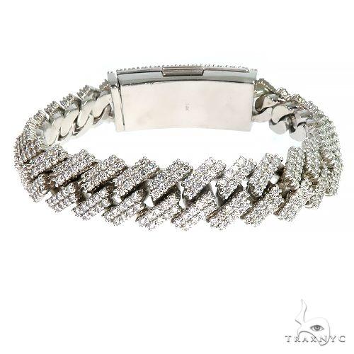 2 Row Prong Set Diamond Cuban Bracelet By Dan 66914 Diamond