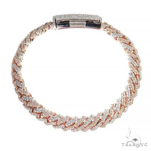2 Tone Prong Set Diamond Cuban Bracelet By Dan 66926 Diamond