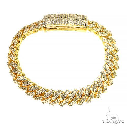 2 Row Prong Set Diamond Cuban Bracelet By Dan 66929 Diamond