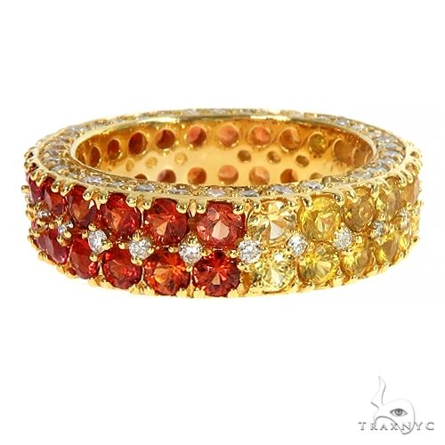 Fire Sapphire Diamond Eternity Ring 66932 Multicolor SAPPHIRE