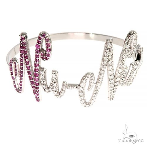 14K Gold Custom Made Bangle Bracelet 66934 Diamond