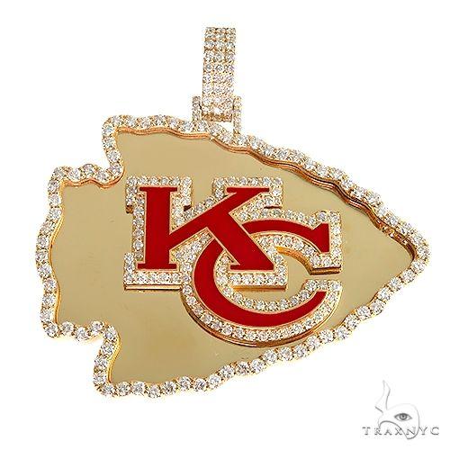 18K Gold Custom Made 'KC' Logo Pendant 66940 Metal