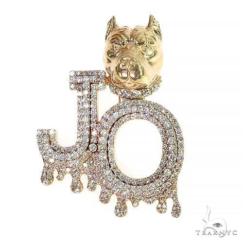Custom Made PitBull 'JO' Diamond Pendant 66941 Metal