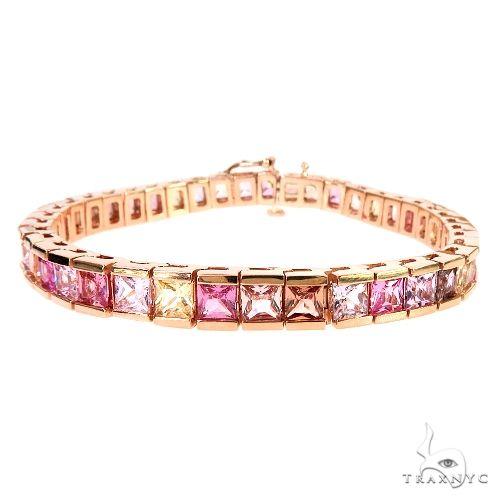 Jesse Cake Sapphire Princess Cut Bracelet 66945 Multicolor SAPPHIRE