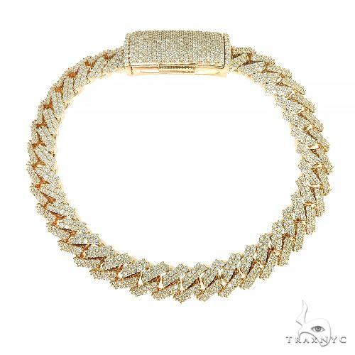 2 Row Prong Set Diamond Cuban Bracelet By Dan 66950 Diamond