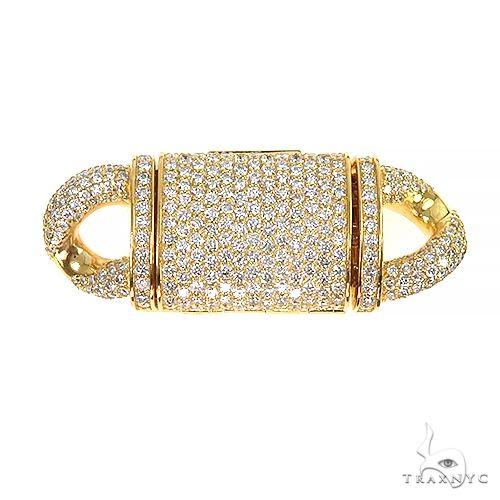 14K Gold Miami Cuban Diamond Lock 66953 Diamond