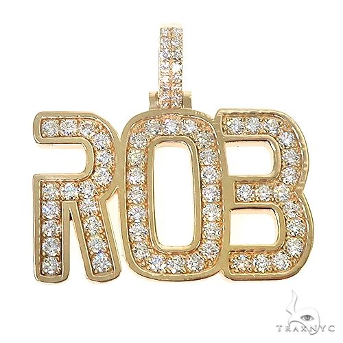 Custom Made Name Diamond Pendant 66956 Metal