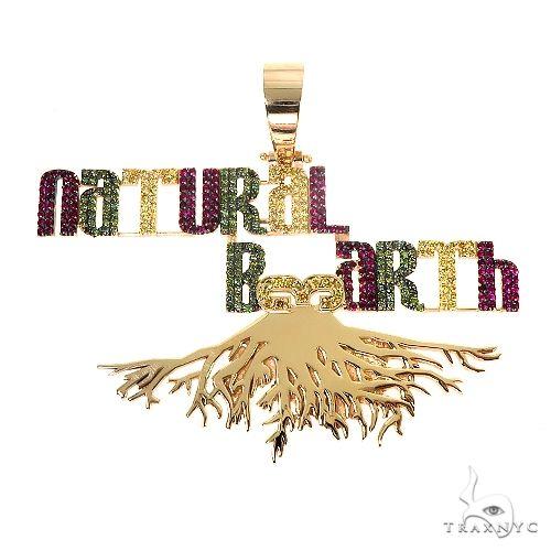 Custom Made 'Natural B3arth' Pendant 66958 Metal