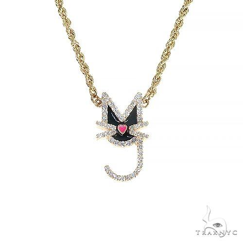 Custom Made Cat Diamond Necklace 66965 Diamond