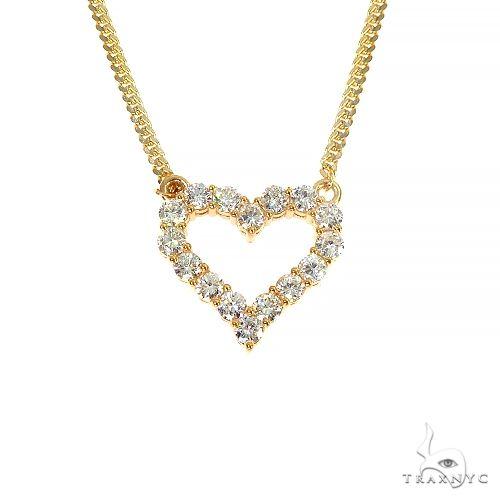 Miami Cuban Chain Diamond Heart Necklace 66967 Metal