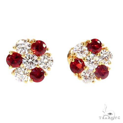 Peppermint Sapphire Diamond Earrings 66969 Stone
