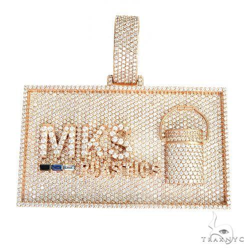 Custom Made 'MKS' Logo Diamond Pendant 66979 Metal