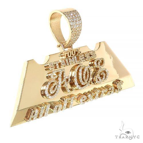 Custom Made Diamond Logo Pendant 66980 Metal