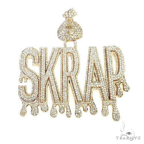Custom Made 'Skrap' Name Pendant 66984 Metal