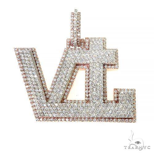 Custom Made 'VTL' Diamond Pendant 66985 Metal