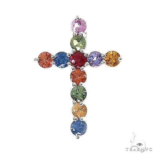 Fruit Loop Sapphire Cross Pendant 66990 Multicolor SAPPHIRE