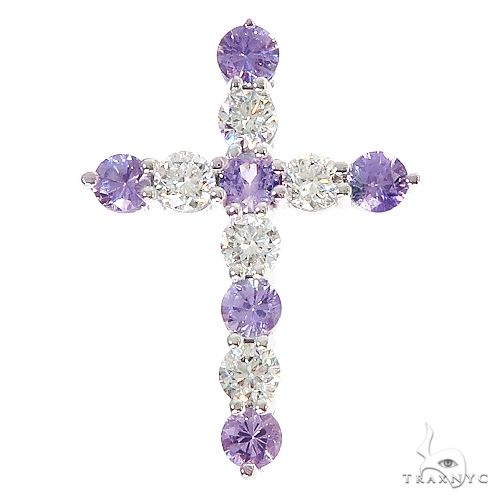 Royal Purple Sapphire Diamond Cross 67006 Multicolor SAPPHIRE