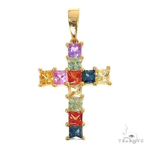 Fruit Loop Princess Cut Cross 67010 Multicolor SAPPHIRE
