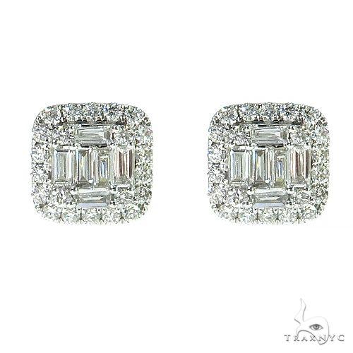 18K Gold Diamond Earrings 67011 Stone