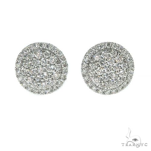 18K Gold Diamond Earrings 67019 Stone