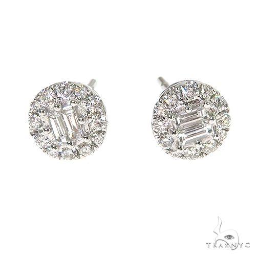 18K Gold Diamond Earrings 67020 Stone
