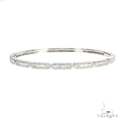 18K Gold Diamond Bangle Bracelet 67024 Bangle