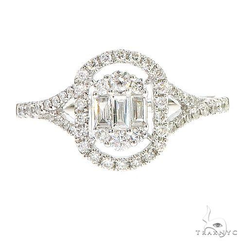 18k Gold Baguette Diamond Engagement Ring 67028 Style