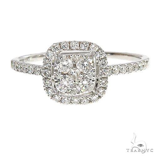 18K Gold Diamond Engagement Ring 67036 Anniversary/Fashion
