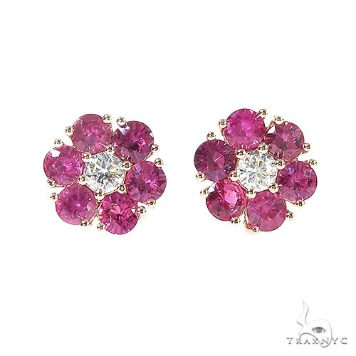 Ruby Flower Earrings 67041 Style