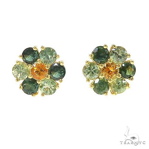 Jungle Sapphire Flower Earrings 67047 Multicolor SAPPHIRE