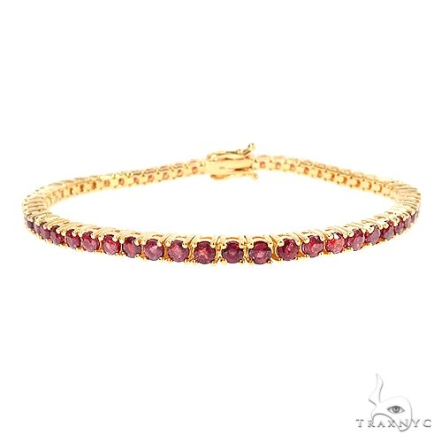 Blood Red 10 Pointer Ruby Tennis Bracelet 67066 Multicolor SAPPHIRE
